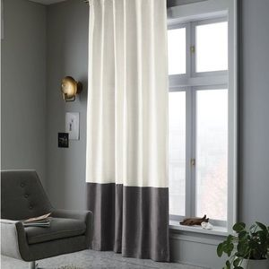 """PROJECT 62 color block curtain panels 84"""" NEW"""